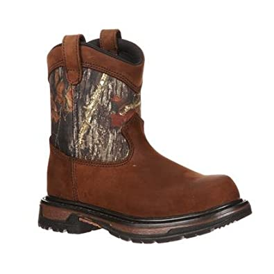 Rocky FQ0003633 Kids Wellington Boot Mossy Oak Break-up Camo 7 Wide