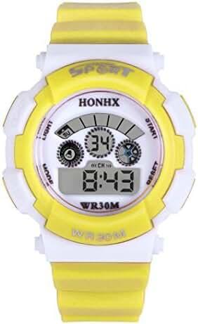 Welcomeuni Waterproof Watch for Child,Kids Boy Girl Student Multifunction Sports Digital LED Quartz Alarm
