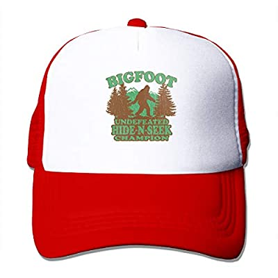 LETI LISW Funny Bigfoot Unisex Personalized Trucker Hats Adjustable Yankees Baseball Cap Fashion Mesh Hats