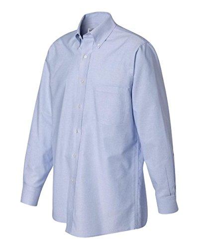 Price comparison product image Van Heusen Men's Long Sleeve Oxford Dress Shirt,  Blue,  Large