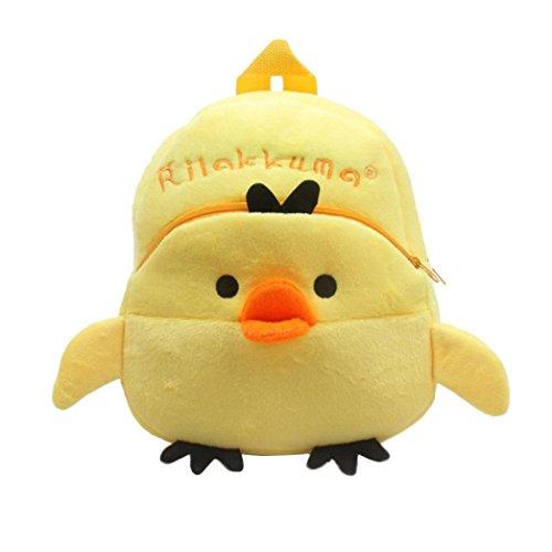 - Sagton Baby Girls Boys Cute Cartoon Animal Backpack Plush School Bag for Kids Age 1-4 Years (Chick)
