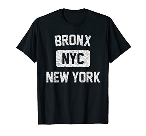 Bronx T Shirt - Gym Style Distressed White Print