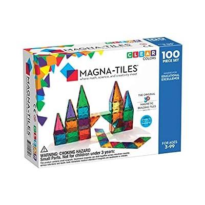 Magna-Tiles Clear Colors 100 Piece Set: Toys & Games