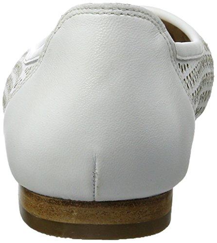 Caprice Damen 22108 Geschlossene Ballerinas Weiß (WHITE NAPPA)