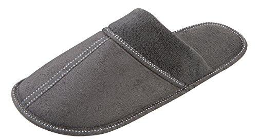 Pierre Roche - Zapatillas de estar por casa para hombre gris