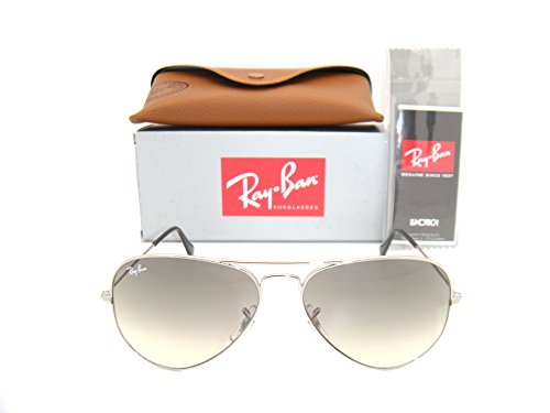 New & Authentic Ray-Ban RB 3025 003/32 Silver Frame / Grey Gradient Lens - Orbs Ray Ban