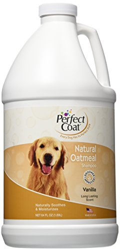 Perfect Coat Natural Oatmeal Shampoo, French Vanilla, 64-Ounce