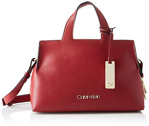 Calvin Klein K60K605566, Bolsos bandolera para Mujer, Rojo (Barn Red)20.3x15.2x27.9 centimeters (B x H x T)