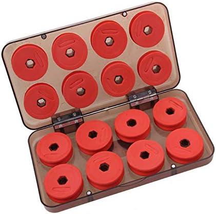 per pesca a mosca attrezzi per riporre accessori OriGlam 16 pezzi bobine da pesca in schiuma