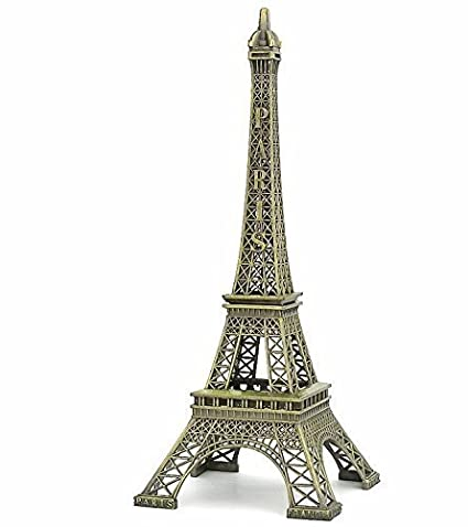 97d7685241 Discount4product Glass Eiffel Tower Statue (10 cm x 10 cm x 25 cm, Antique)