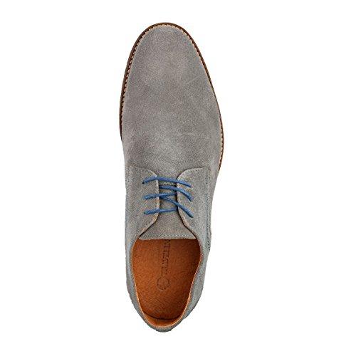Travelin Manchester Suede Business Schuhe Herren | Schnürhalbschuhe | Freizeitschuhe | Hochzeitschuhe | Anzugschuhe | Derby Lederschuhe Vielen Farben Hellgrau