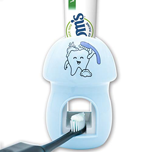 BZ Toothbrush Holder Automatic Toothpaste Dispenser Set Kids Hands Free Toothpaste Squeezer for Family Washroom Bathroom