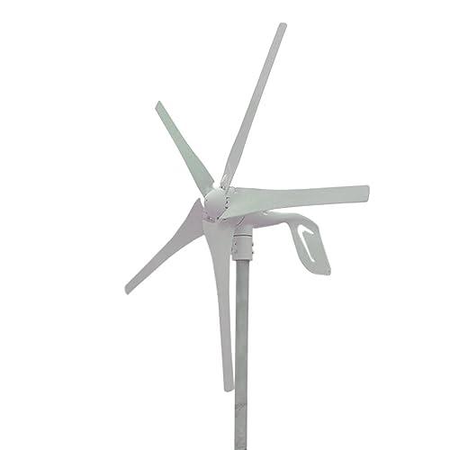 HUKOER 400W Windkraftanlage 12V Windgenerator Windkraftgenerator Turbine 5 Blades niedrige Windgeschwindigkeit Wasserdichte Windkontroller Start