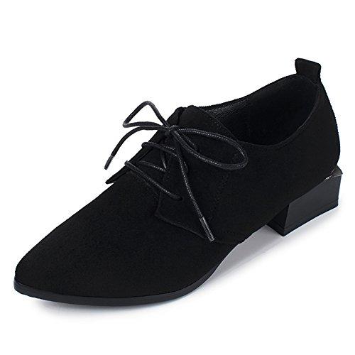 Escuela de primavera y otoño zapatos puntiagudos del viento/Zapatos de corte bajo/zapatos del estudiante viento British vintage B