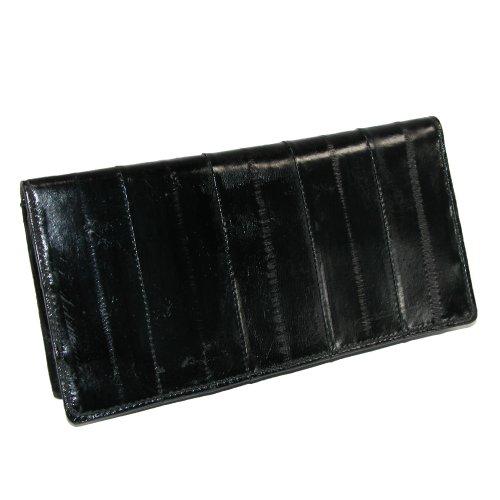 MJ Masters Women's Eel Skin Basic Checkbook Cover, Black