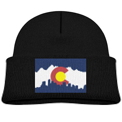 Rhfjgk Ldjg Colorado City Skull Hat Beanie Cap 0-3 Old Toddler Black