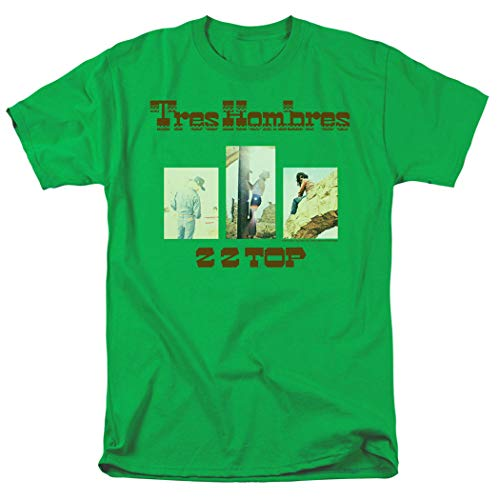 ZZ Top Tres Hombres Album T Shirt (Large) Kelly Green for sale  Delivered anywhere in USA