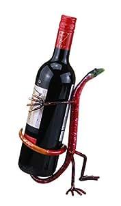 Amazon Com Gecko Behind Back Decorative Wine Bottle