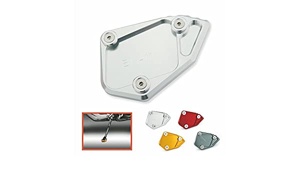 Heinmo Motorcycle Kickstand Extension Bike CNC Aluminum Foot Side Stand Plate Enlarger Plate For R 1200 GS 2008-2012