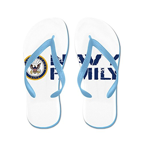 CafePress U.S. Navy: Navy Family (Blue & White) - Flip Flops, Funny Thong Sandals, Beach Sandals