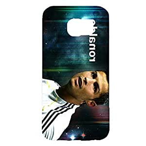Fashionable Cristiano Ronaldo Painted Real Madrid Football Club Phone Case Absorbing Hard Cover for Samsung Galaxy S6