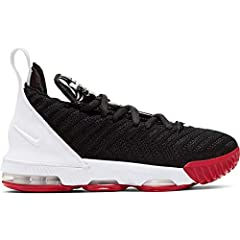 Nike LeBron XVI boys' basketball sneaker. Designed to the specifications of King James, this performance kick features lightweight Flyknit construction to promote speed and agility, and reinforced ankles for added protection and stability.   ...