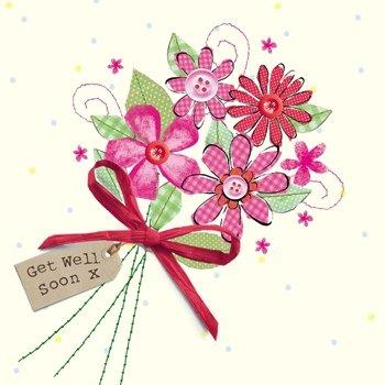 Olive \u0026 Belle Bouquet of Flower , Get Well Soon Card