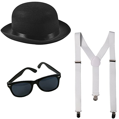 Funny Party Hats Gangster Costume - Roaring 20's Costume - Mobster Costume - Gangster (Roaring 20's Costume Accessories)