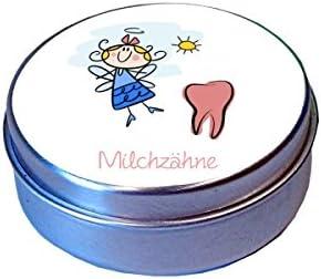 Milchzahndose Metall Zahnfee Farbe blau