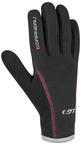 Louis Garneau - Women's Gel Ex Pro Bike Gloves, Black/Pink, (Garneau Womens Glove)