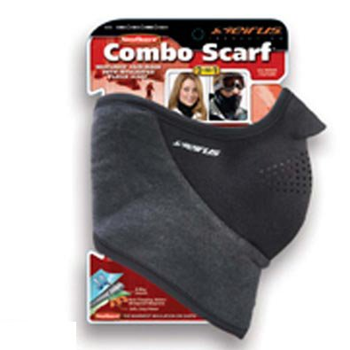 Seirus Innovation 8030 Neofleece Combo Scarf - Face and Neck Masque for Cold Winter - Fleece Balaclava Velcro