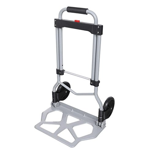 Leoneva 220lbs Capacity Portable Heavy Duty Folding Hand Truck Luggage Cart Dolly for Travel, Shopping or Industrial[US STOCK] (Truck Mini Hand)