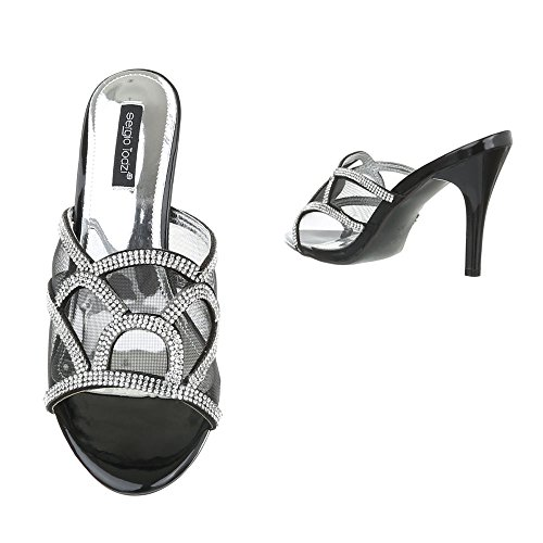 Ital-Design - zapatillas de baile (jazz y contemporáneo) Mujer negro