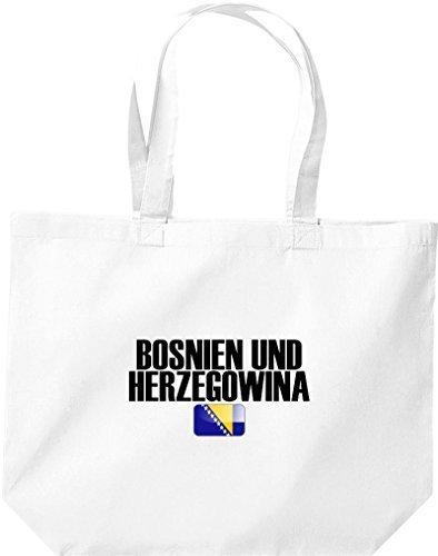 große Bolsa de compra, BOSNIA Y HERZEGOVINA Land PAÍSES Fútbol Blanco
