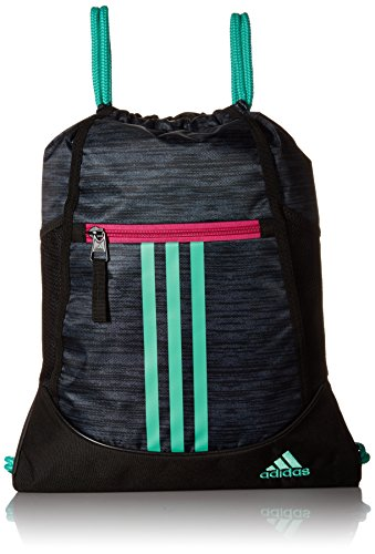 adidas Alliance Ii Sackpack, Green/Bahia Magenta, One (Magenta Apparel)