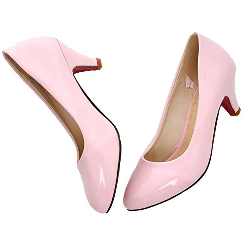 Pink KemeKiss Women Pumps Mid Heel qRRX08