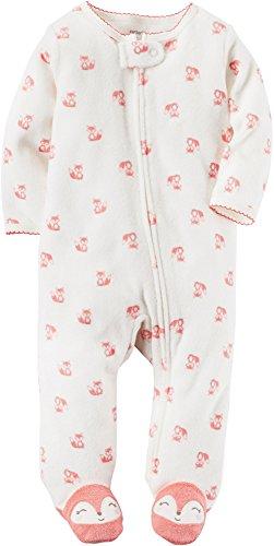 Carter's Baby Girls' One Piece Fox Print Sleep & Play 9 Months
