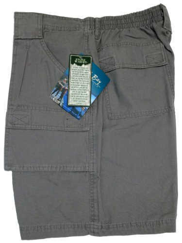 Bimini Bay Outfitters Outback Hiker Cotton Cargo Short (2-Pack) (36, Charcoal)
