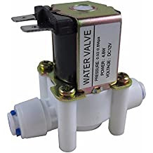 "ZAOJIAO 1/4"" DC 12V N/C Normally Closed Inlet Water Solenoid Valve Quick Connect"