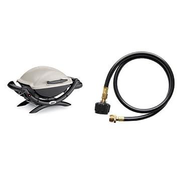weber q1000 liquid propane grill with cuisinart adaptor hose