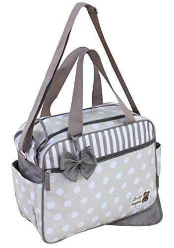 GMMH 2piezas bolso cambiador 3110Bolsa de bolsa para pañales Baby funda Selección de Colores azul azul beige