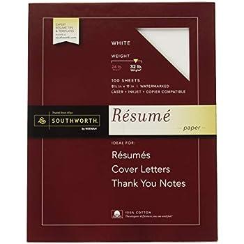 Amazoncom Southworth 100 Cotton Resume Paper 85 X 11 32 Lb - Southworth-resume-paper