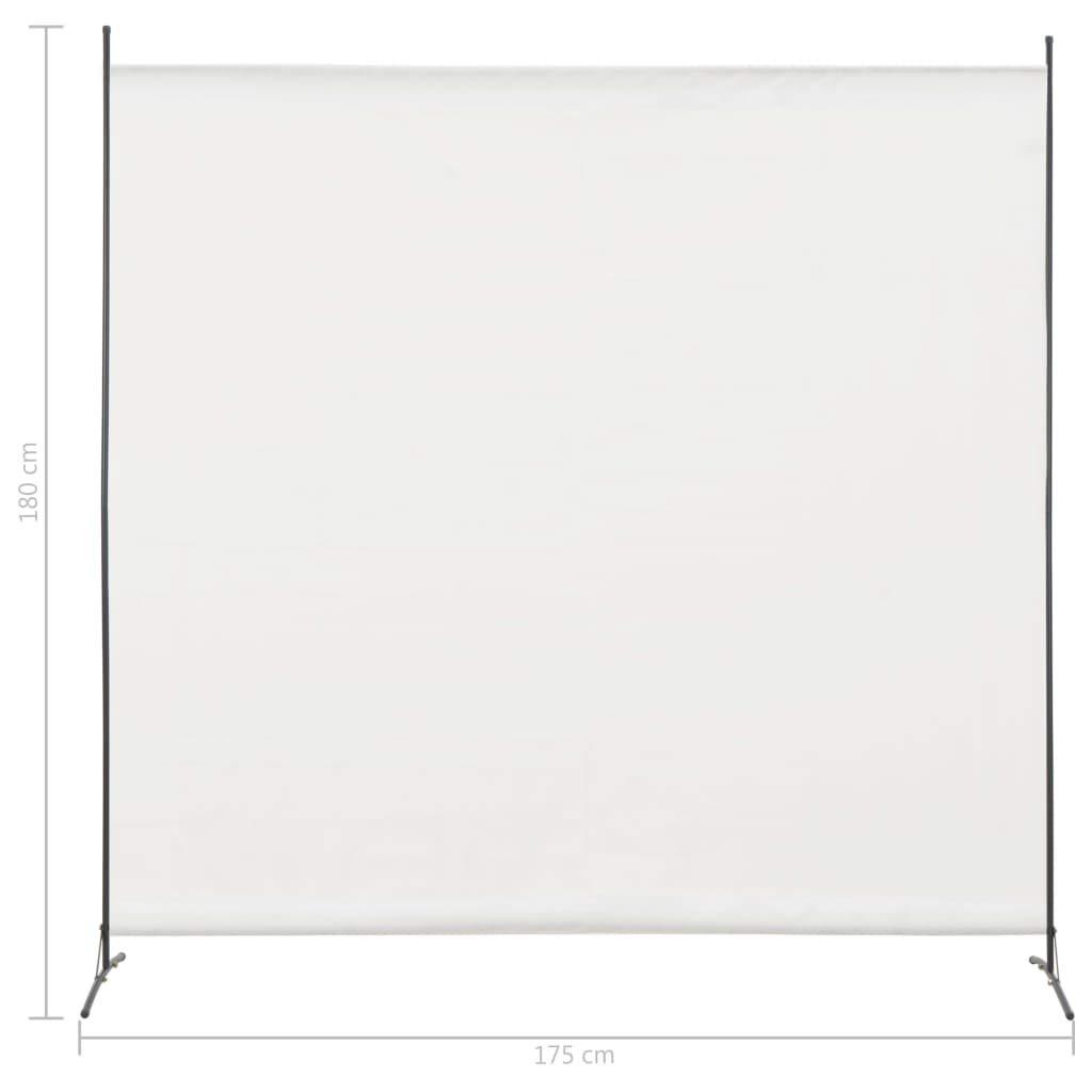 Retrome Autoportante Paravento Divisore da Interno,Richiudibile Divisori per Ambienti,Pannello per Privacy,a 1 Pannello Bianco 175x180 cm