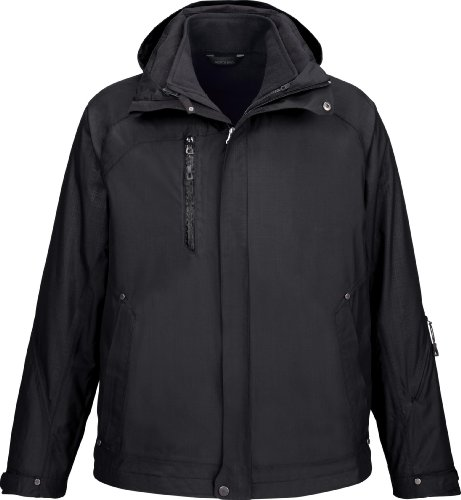 NE MEN CAPRICE 3 IN 1 JKT (BLACK 703) (L) by Ash City - North End