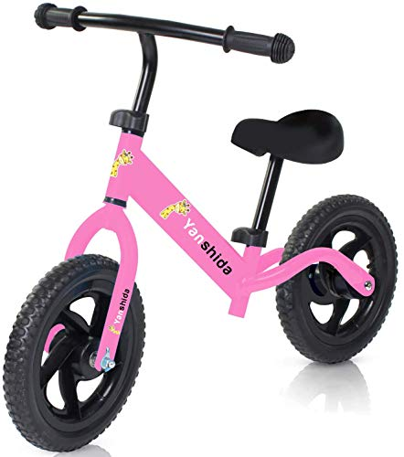 Balance Bike, Ages for 2,3,4,5,6 Years Old Walking Bike No Pedal Bicycle with Adjustable Handlebar & Seat Height by…