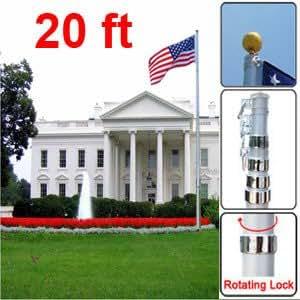 Amazon Com 20 Quot New Us Flag Pole Set American Aluminum