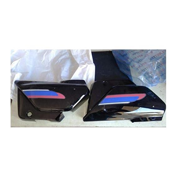 Generic red Blue splender Plus Side Panel Set