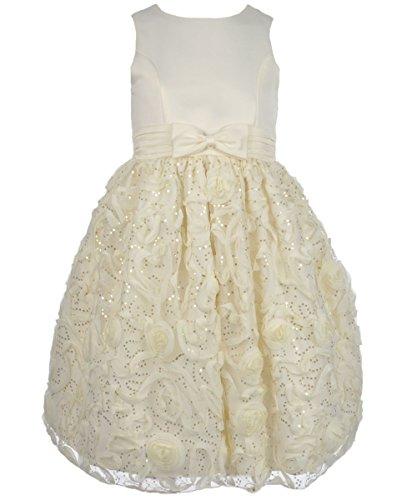 "American Princess Big Girls' ""Shimmer Twirl"" Dress - candle light, 8"