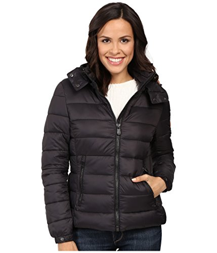 Save the Duck Hooded Puffer Jacket Black (2 (MD))