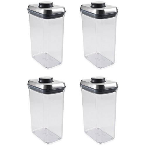 OXO SteeL POP 2.5-Quart Rectangle Container (Set of 4)